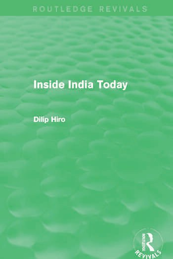 Inside India Today (Routledge Revivals) book cover