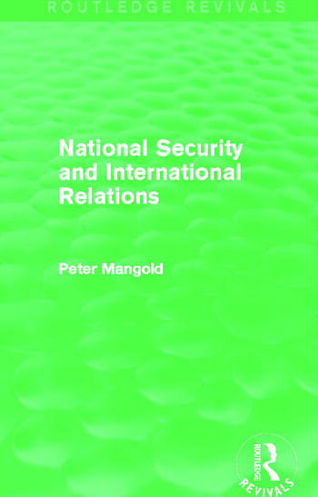 National Security and International Relations (Routledge Revivals) book cover