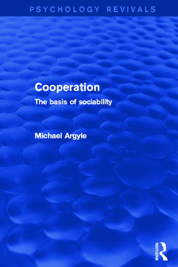 Cooperation The Basis of Sociability book cover