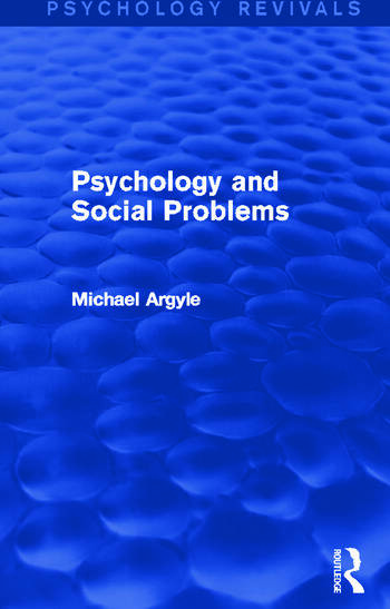Psychology and Social Problems book cover