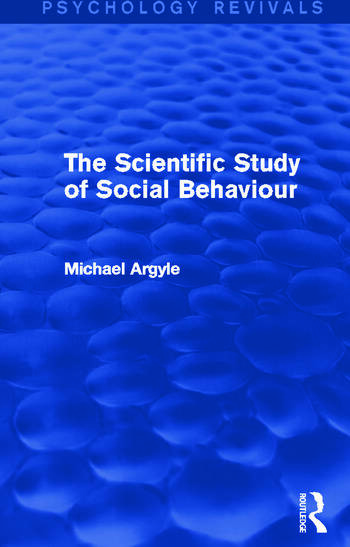 The Scientific Study of Social Behaviour book cover