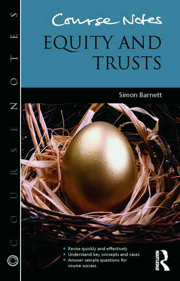 Course Notes: Equity and Trusts book cover