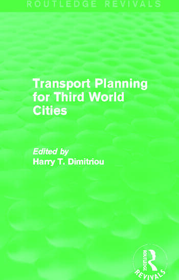 Transport Planning for Third World Cities (Routledge Revivals) book cover