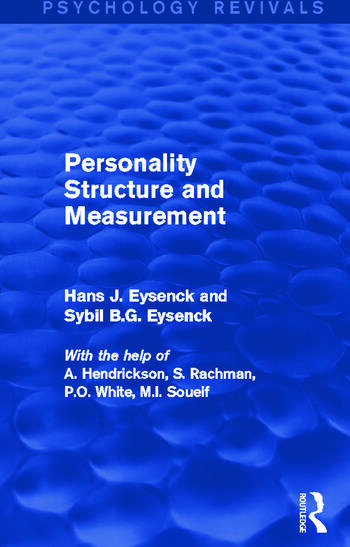 Personality Structure and Measurement book cover
