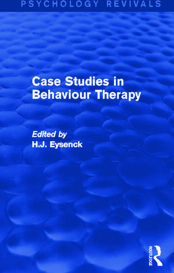 Case Studies in Behaviour Therapy book cover