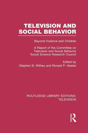the issue of violent behavior on television and in the society of the united states Violent media and the first amendment  a constant diet of violent behavior on television has an adverse effect  in society than the united states.
