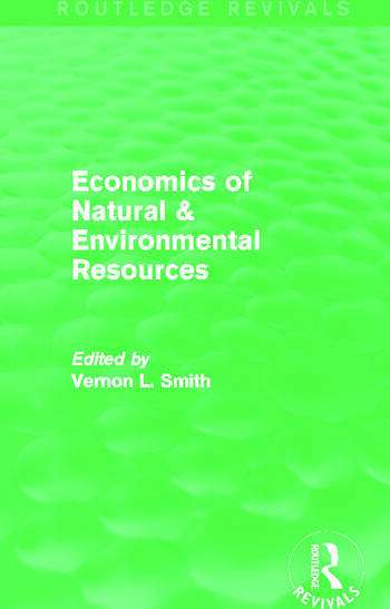 Economics of Natural & Environmental Resources (Routledge Revivals) book cover