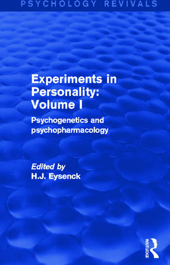 Experiments in Personality: Volume 1 Psychogenetics and Psychopharmacology book cover