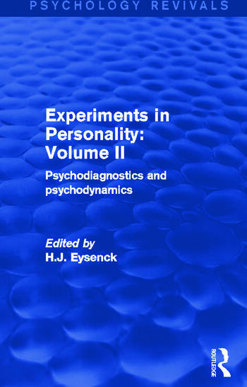 Experiments in Personality: Volume 2 Psychodiagnostics and Psychodynamics book cover