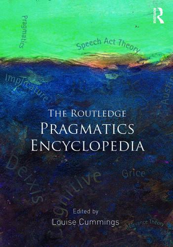 The Routledge Pragmatics Encyclopedia book cover
