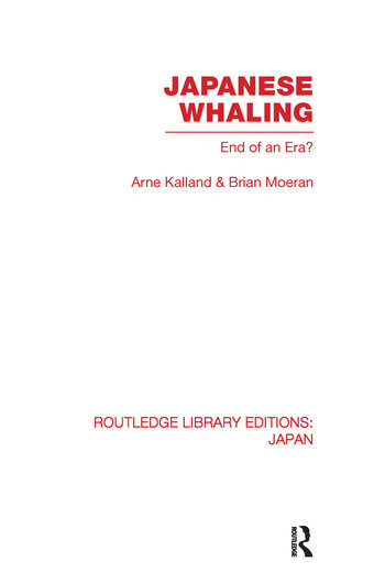 Japanese Whaling? End of an Era book cover