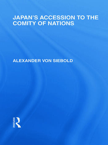 Japan's Accession to the Comity of Nations book cover