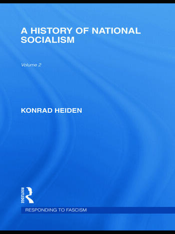 A History of National Socialism (RLE Responding to Fascism) book cover