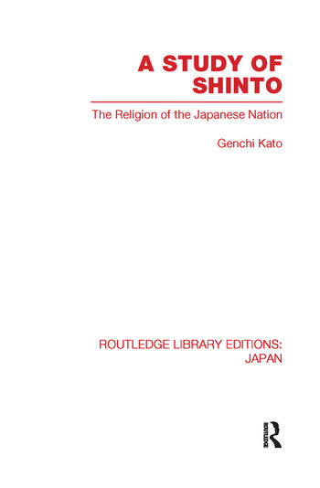 A Study of Shinto The Religion of the Japanese Nation book cover