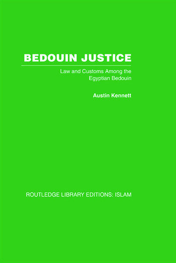 Bedouin Justice Law and Custom Among the Egyptian Bedouin book cover