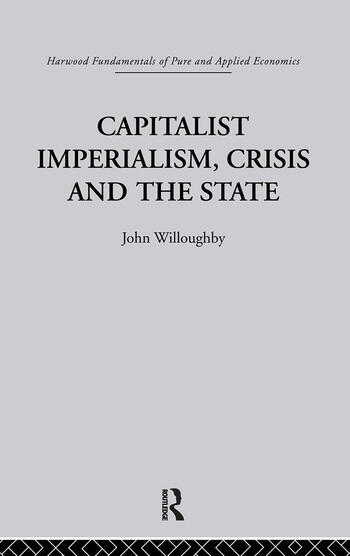 Capitalist Imperialism, Crisis and the State book cover