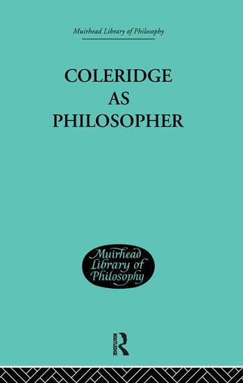 Coleridge as Philosopher book cover