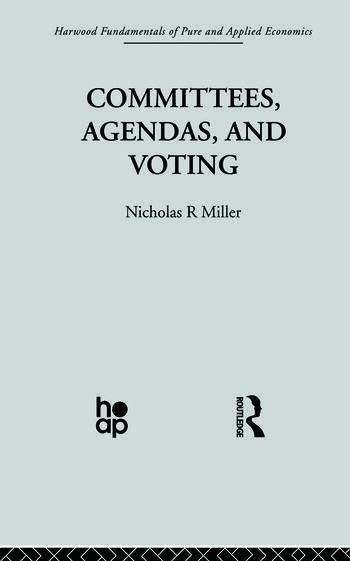 Committees, Agendas and Voting book cover