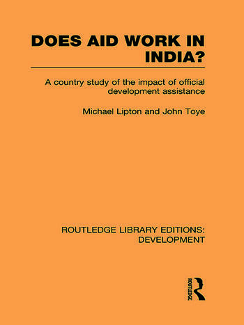 Does Aid Work in India? A Country Study of the Impact of Official Development Assistance book cover