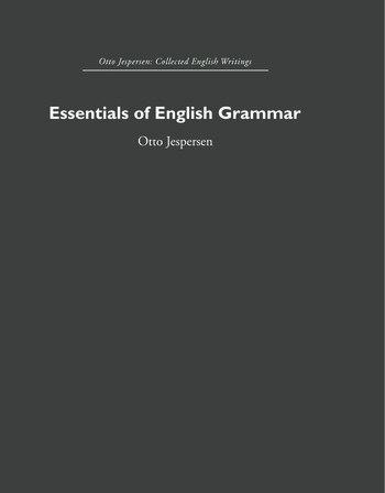 Essentials of English Grammar book cover