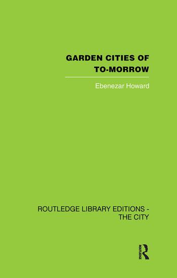 Garden Cities of To-Morrow book cover