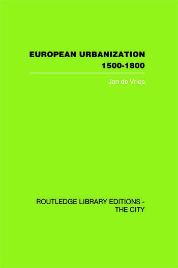 European Urbanization, 1500-1800 book cover