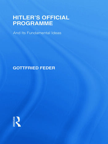 Hitler's Official Programme RLE Responding to Fascism book cover