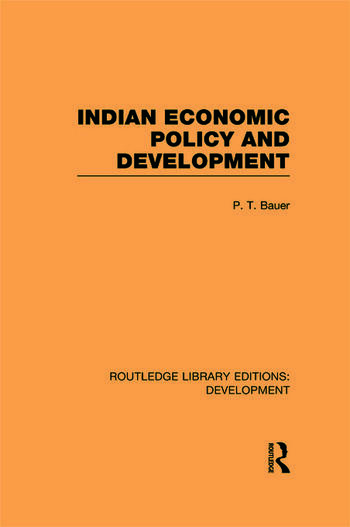 Indian Economic Policy and Development book cover