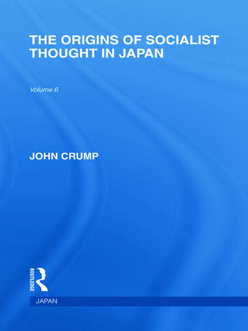The Origins of Socialist Thought in Japan book cover