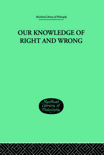 Our Knowledge of Right and Wrong book cover
