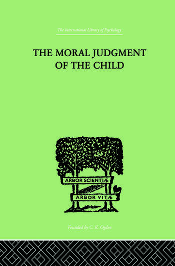 The Moral Judgment Of The Child book cover