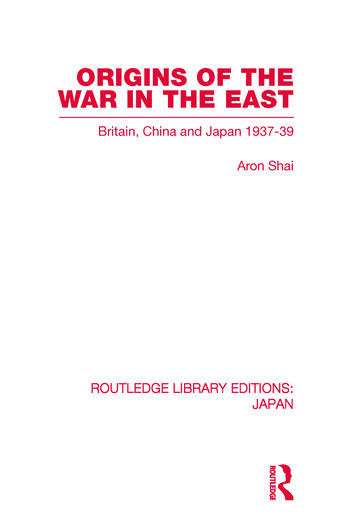 Origins of the War in the East book cover