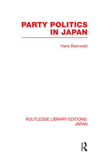 Party Politics in Japan book cover