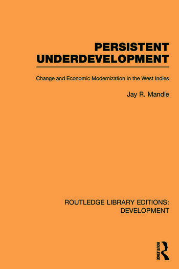 Persistent Underdevelopment Change and Economic Modernization in the West Indies book cover