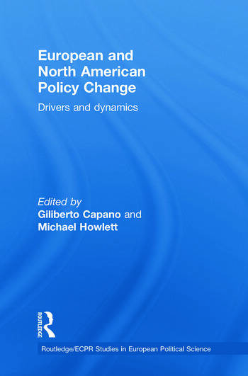 European and North American Policy Change Drivers and Dynamics book cover
