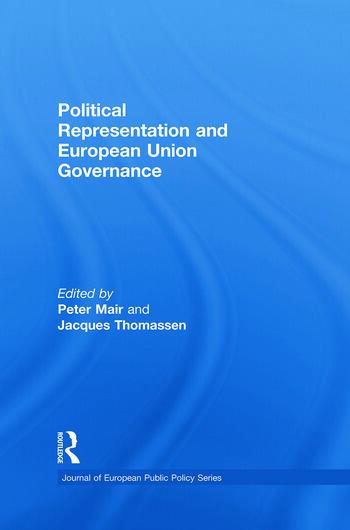Political Representation and European Union Governance book cover