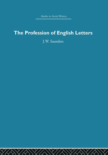 The Profession of English Letters book cover