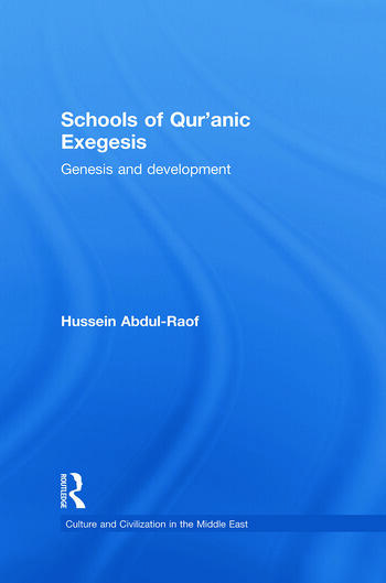 Schools of Qur'anic Exegesis Genesis and Development book cover