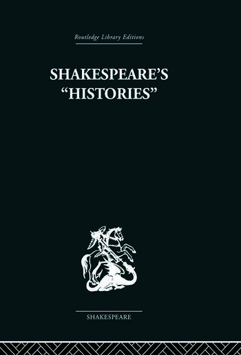 Shakespeare's History Mirrors of Elizabethan Policy. book cover
