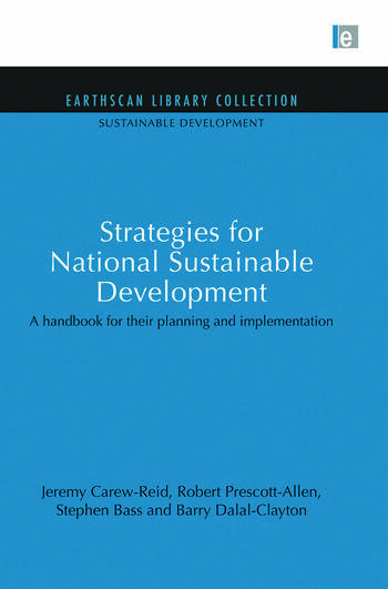 Strategies for National Sustainable Development A handbook for their planning and implementation book cover