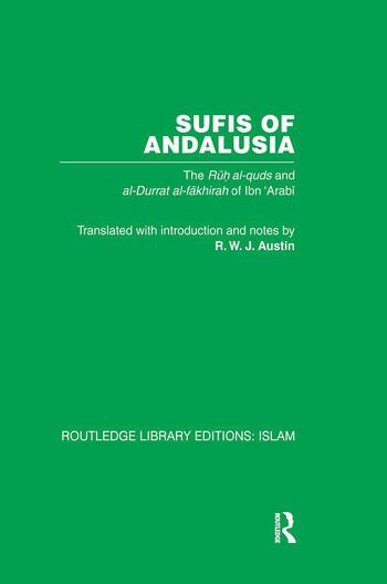 Sufis of Andalucia The Ruh al-Quds and Al-Durat Fakhirah book cover