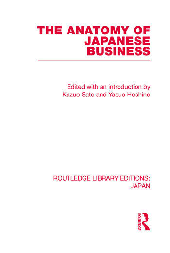 The Anatomy of Japanese Business book cover