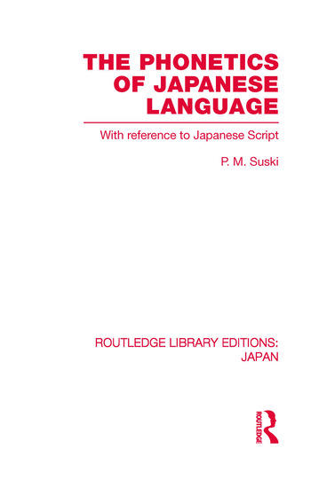 The Phonetics of Japanese Language With Reference to Japanese Script book cover