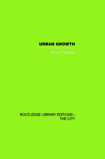 Urban Growth An Approach book cover