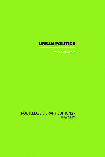 Urban Politics A Sociological Interpretation book cover