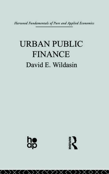 Urban Public Finance book cover