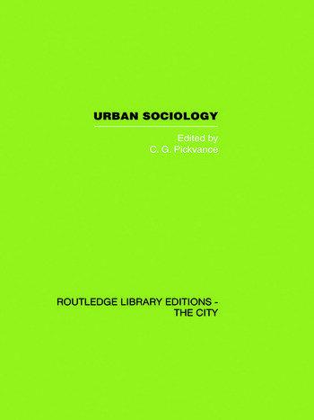 Urban Sociology Critical Essays book cover