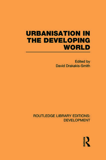 Urbanisation in the Developing World book cover
