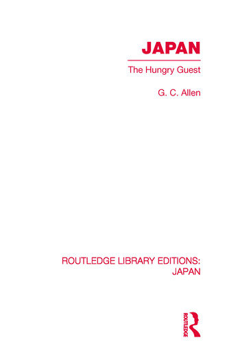 Japan The Hungry Guest book cover