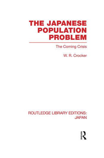 The Japanese Population Problem The Coming Crisis book cover